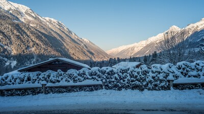 View from the drive at Chalet Charme