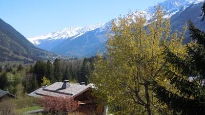 Vue du Chalet Charme de la vallée de Chamonix